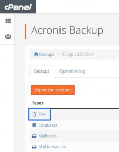 How to Restore Your Website with Acronis