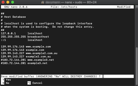 How to Change Localhost File on Mac