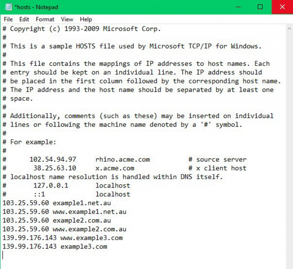 How to Change Local Host File on Windows